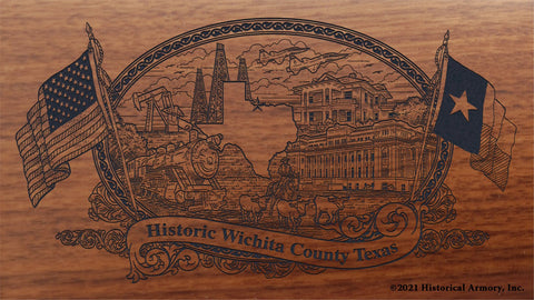 wichita county texas engraved rifle buttstock
