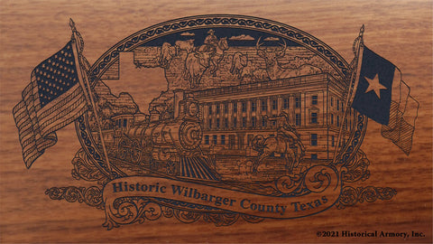 wilbarger county texas engraved rifle buttstock