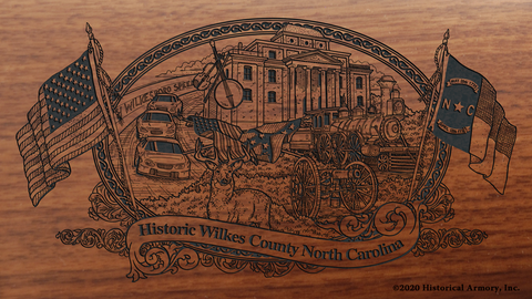 Wilkes County North Carolina Engraved Rifle