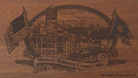 williams county ohio engraved rifle buttstock