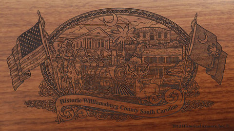 williamsburg county south carolina engraved rifle buttstock