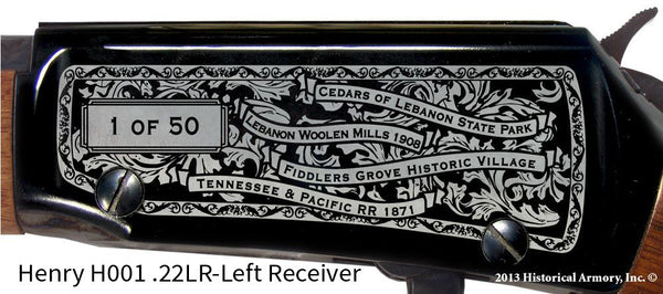 Wilson County Tennessee Engraved Rifle