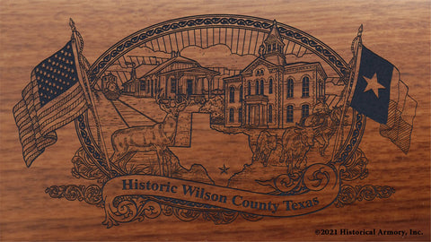 wilson county texas engraved rifle buttstock