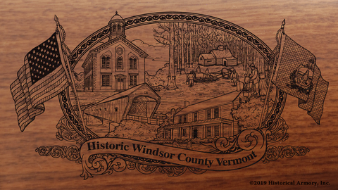 Windsor County Vermont Engraved Rifle