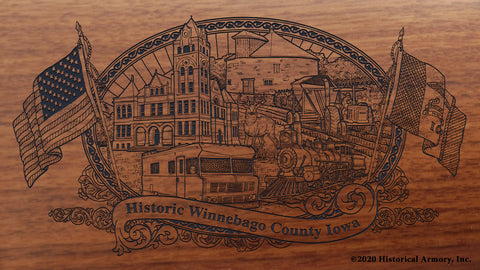 Winnebago County Iowa Engraved Rifle Buttstock