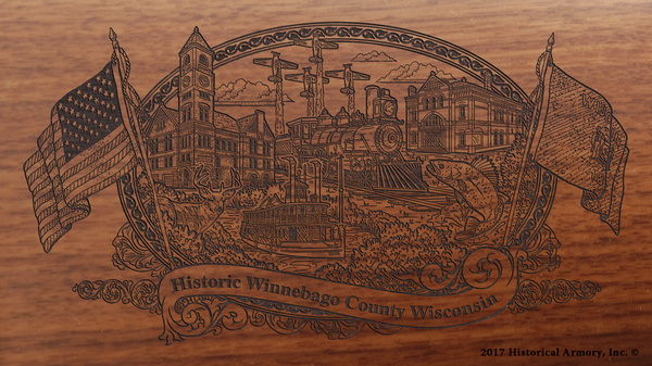 Winnebago County Wisconsin Engraved Rifle