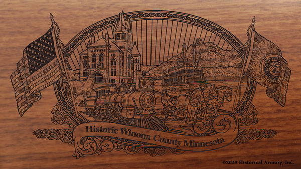 Winona County Minnesota Engraved Rifle