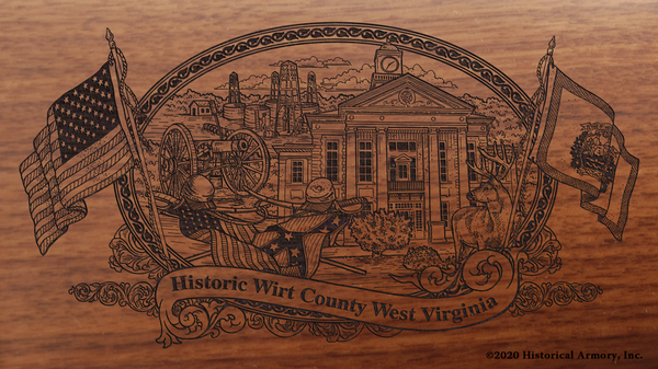 Wirt County West Virginia Engraved Rifle