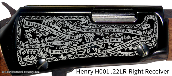 Wise County Texas Engraved Rifle