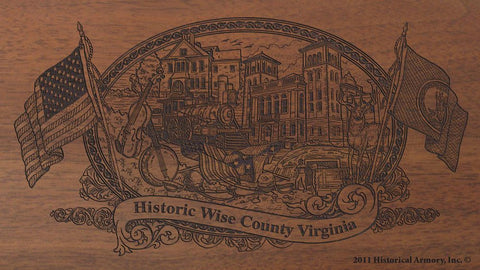 wise county virginia engraved rifle buttstock