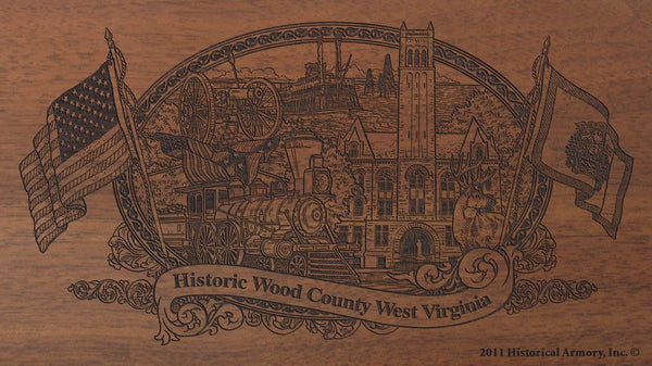 wood county west virginia engraved rifle buttstock