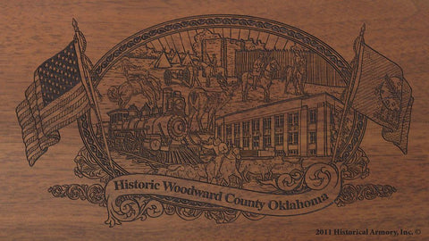 woodward county oklahoma engraved rifle buttstock