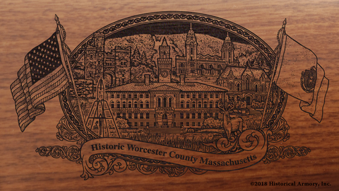 Worcester County Massachusetts Engraved Rifle