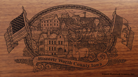 Worth County Iowa Engraved Rifle