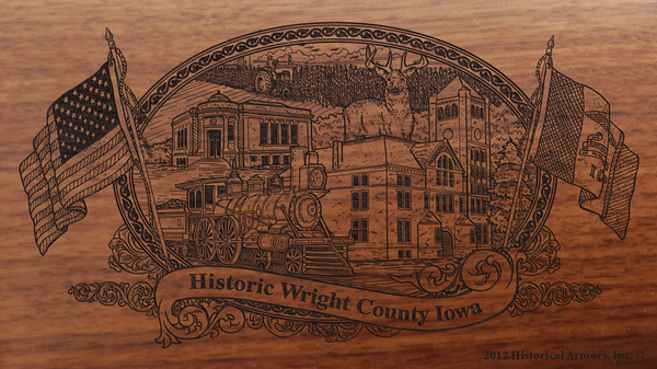 Wright County Iowa Engraved Rifle