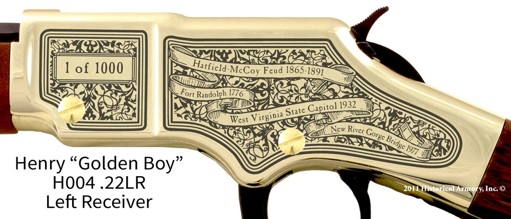 West Virginia State Pride Engraved Rifle Historical Armory