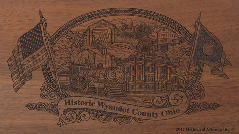 wyandot county ohio engraved rifle buttstock