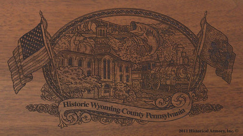 wyoming county pennsylvania engraved rifle buttstock