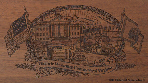 wyoming county west virginia engraved rifle buttstock