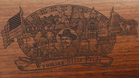 wyoming state engraved rifle buttstock