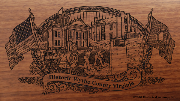 Wythe County Virginia Engraved Rifle