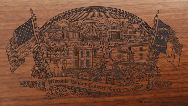 yancey county north carolina engraved rifle buttstock