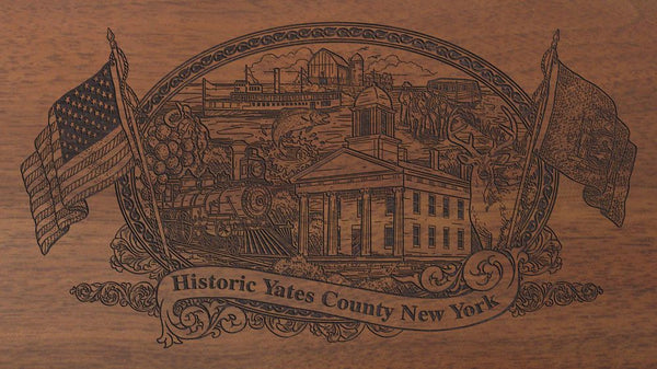 yates county new york engraved rifle buttstock