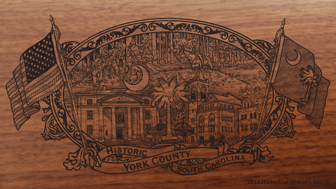 York County South Carolina Engraved Rifle