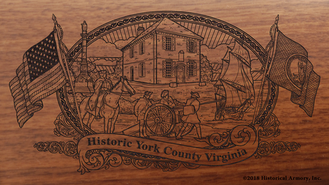 York County Virginia Engraved Rifle