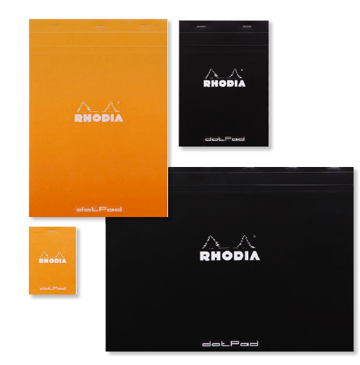 Rhodia Pads [Classic Black and Orange]