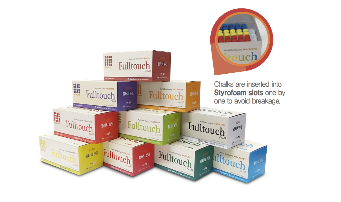 Hagoromo Chalk Fulltouch 3-color Mix (72 pieces)