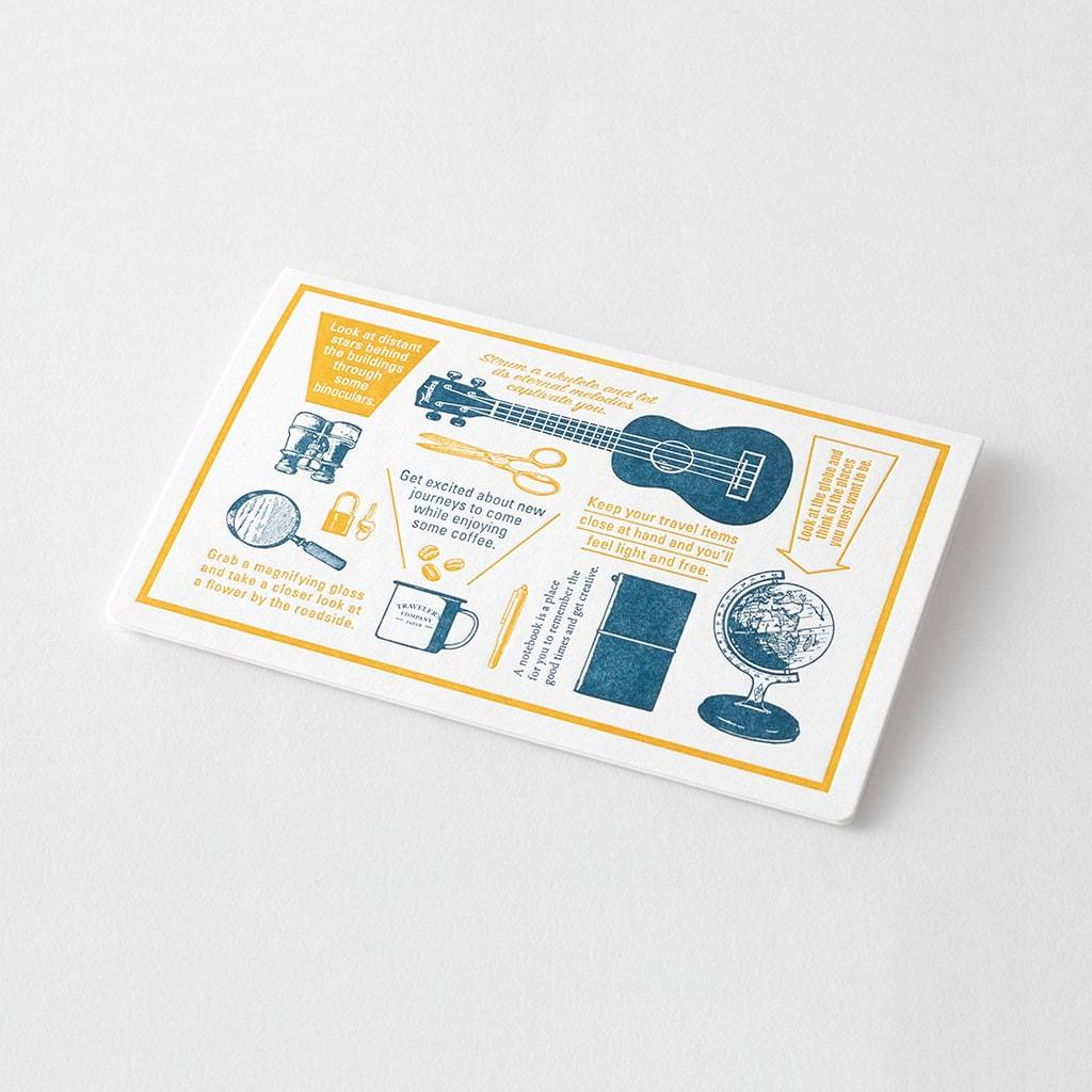 Traveler's Notebook Travel Tools Letterpress Card