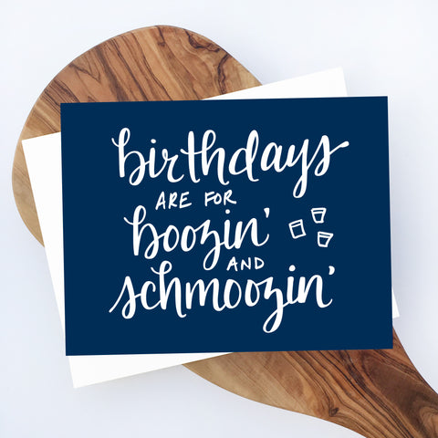 Boozin' Birthday Card