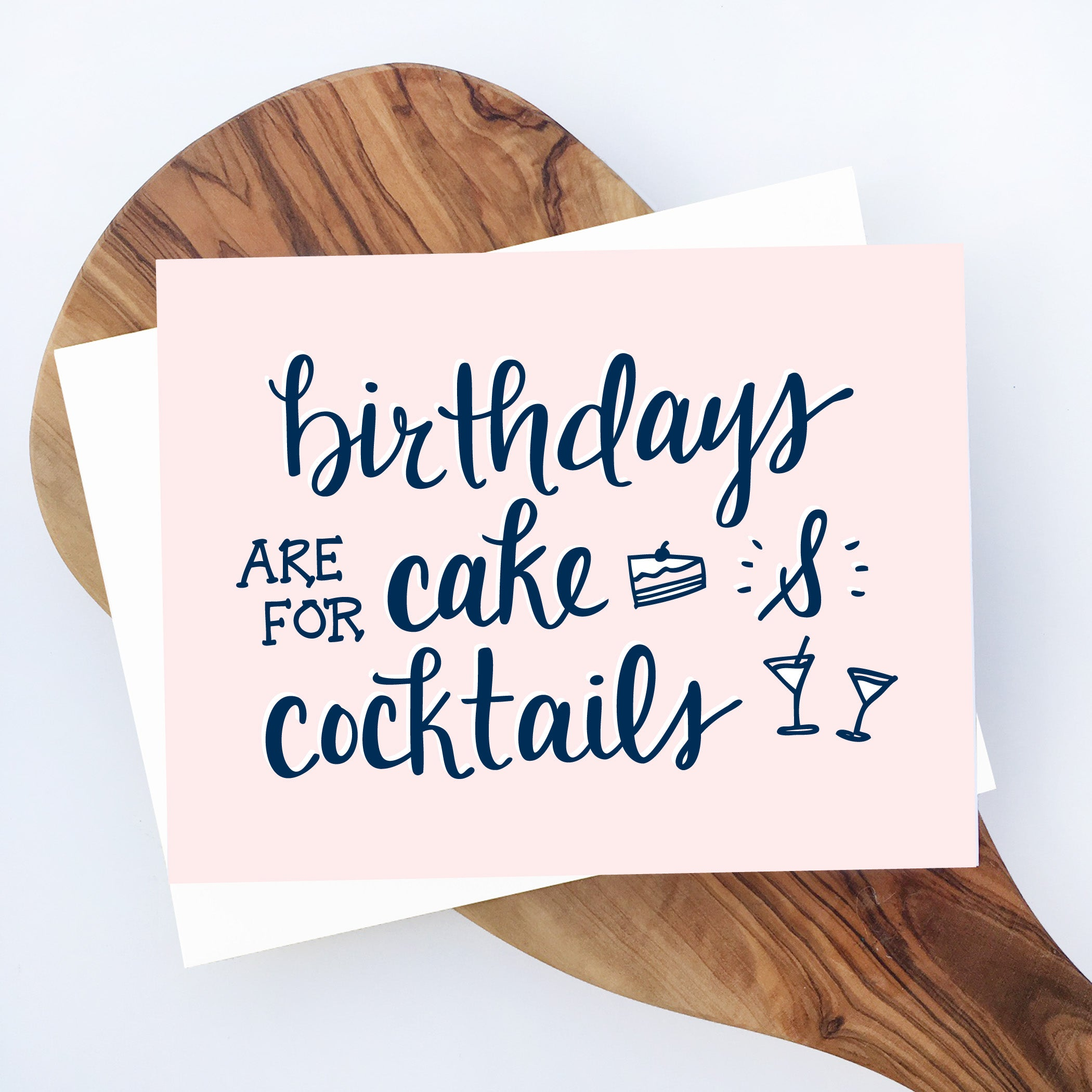 Cake & Cocktails Birthday Card