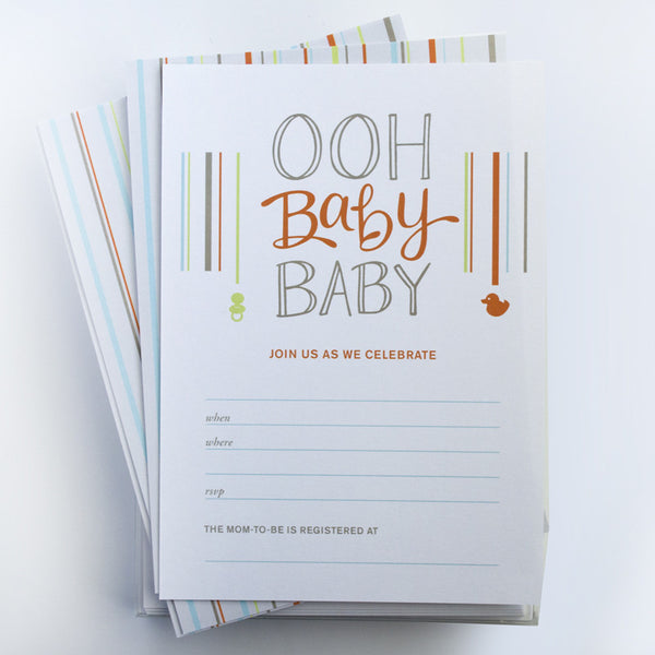 Ooh Baby Fill-In Invitations