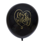 Love Wildly Balloon (black, two-pack)