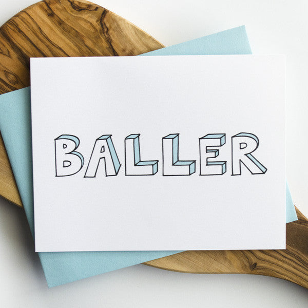 Baller Greeting Card