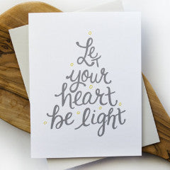 Let Your Heart Be Light Holiday Card