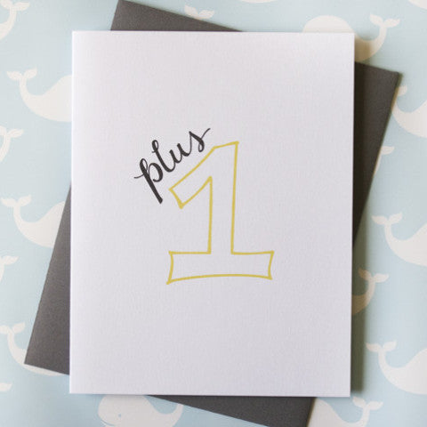 Plus One Baby Card