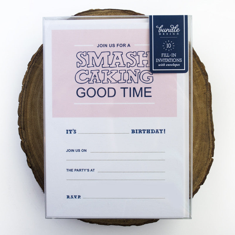 Smash Caking Fill-In Invitations