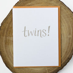 Twins Baby Card