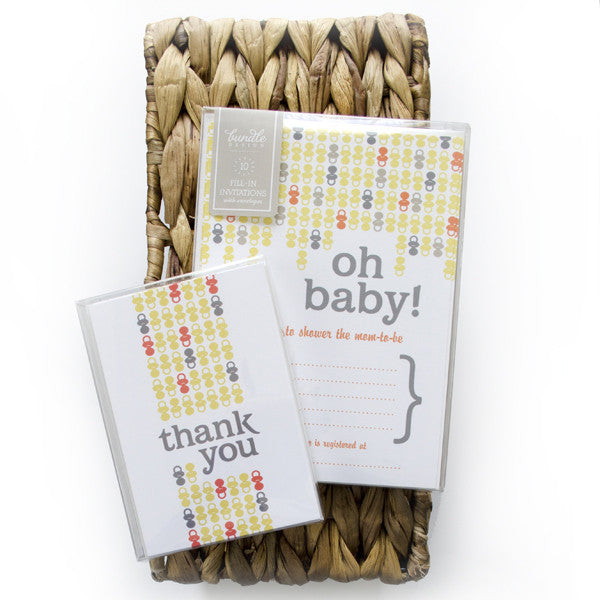 Paci Pattern Fill-In Invitations