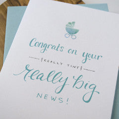 Really Big News Baby Card