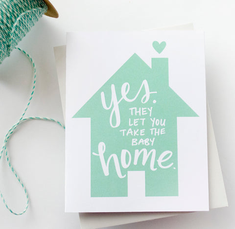 Take The Baby Home Greeting Card