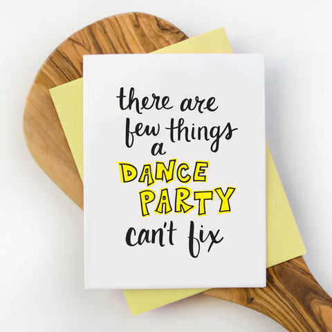 Dance Party Greeting Card