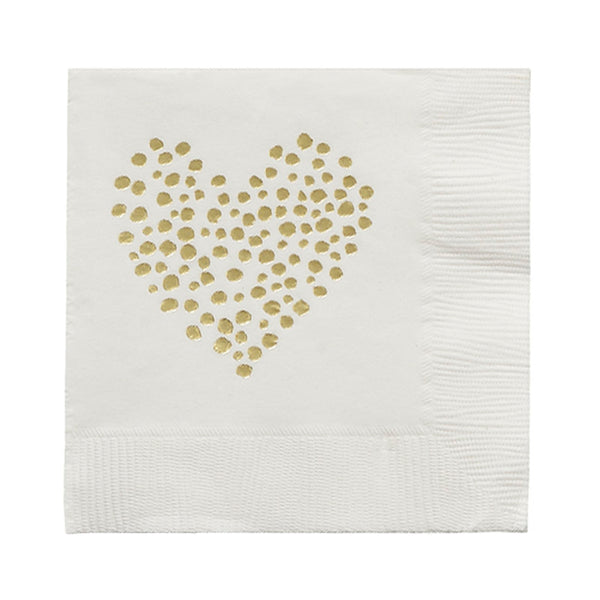 Dotted Heart Napkins