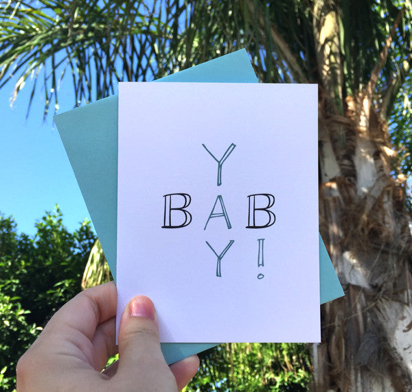 Yay Baby Greeting Card