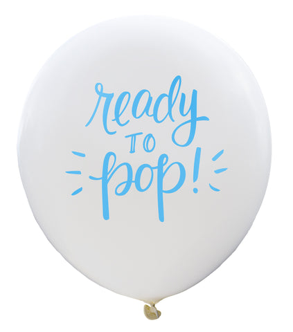 Ready to Pop Balloon (white/blue, two-pack)