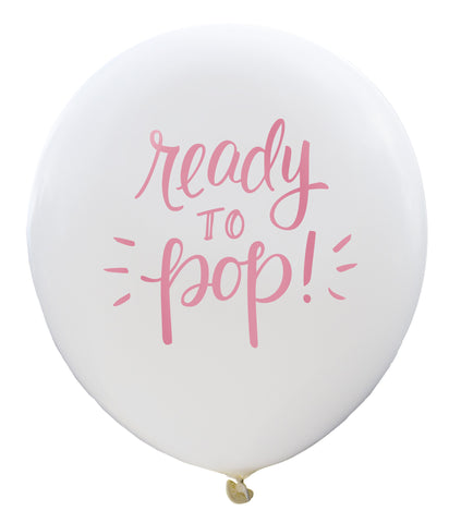 Ready to Pop Balloon (white/pink, two-pack)