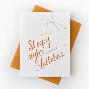 Sleepy Sighs Baby Card